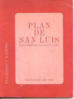 Plan de San Luis Potosi Revolucion Mexicana