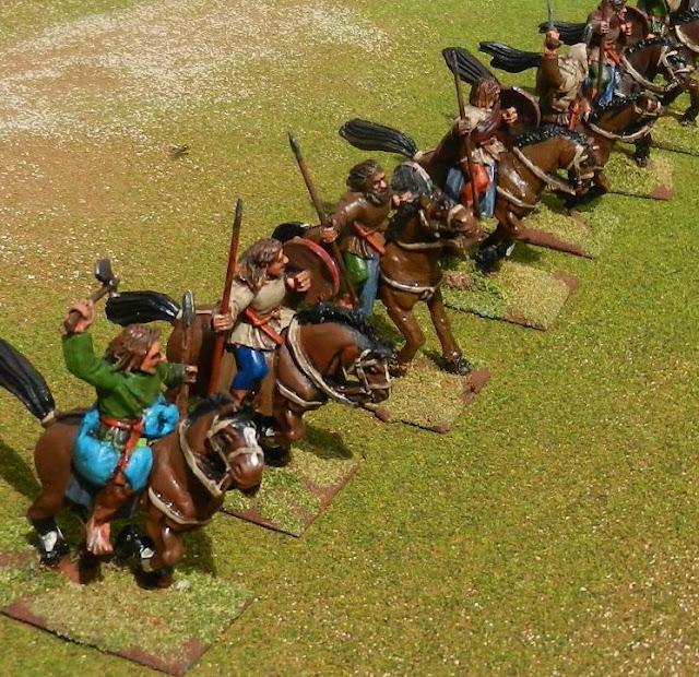 mounted Welsh warriors