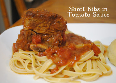 Durfee Family Recipes: Short Ribs in Tomato Sauce