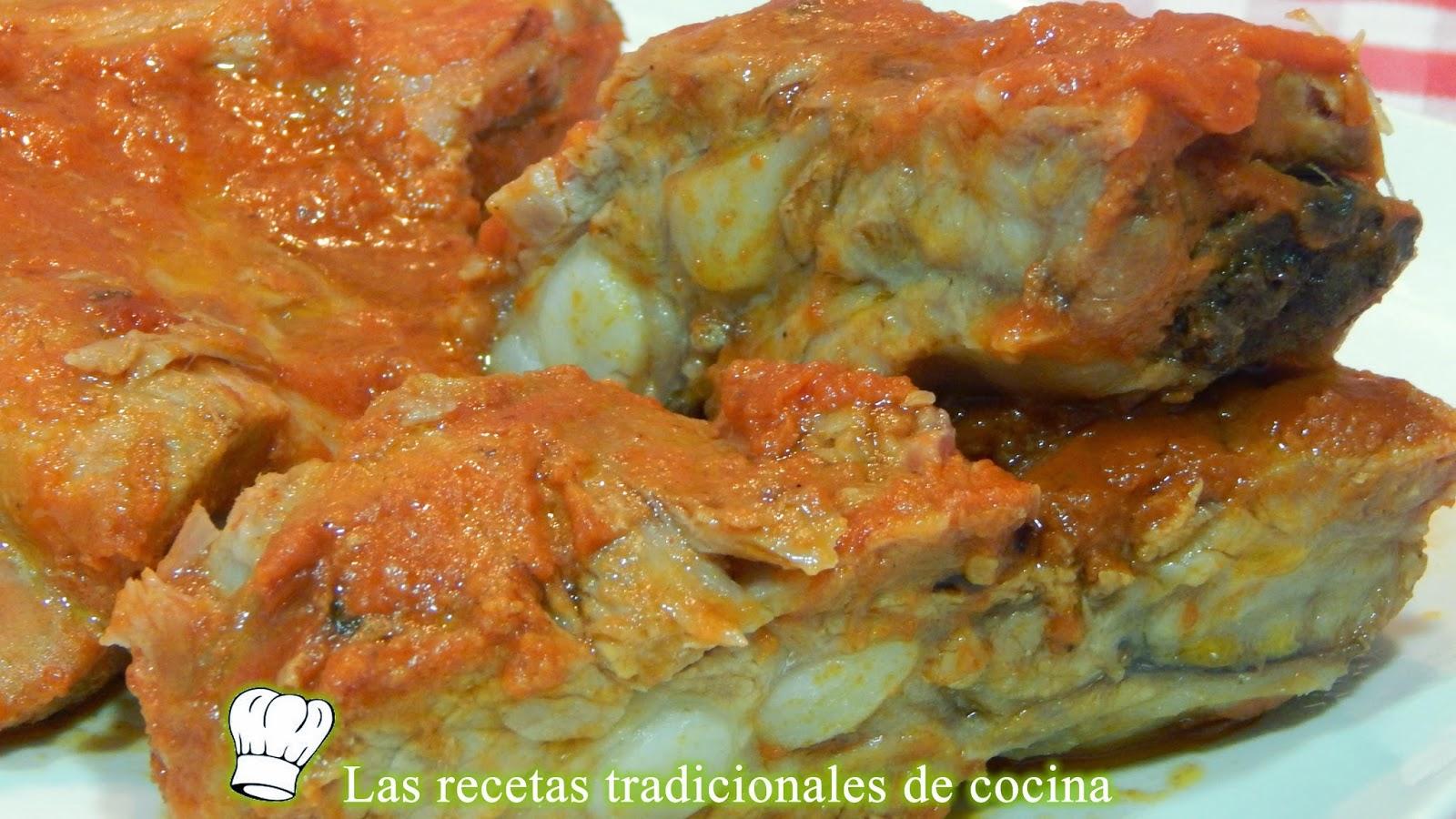 Costillas de cerdo al horno con salsa barbacoa, tiernas y jugosas