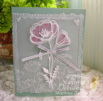 parchment craft flower poppy card