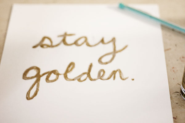 Stay Golden print by A Bee