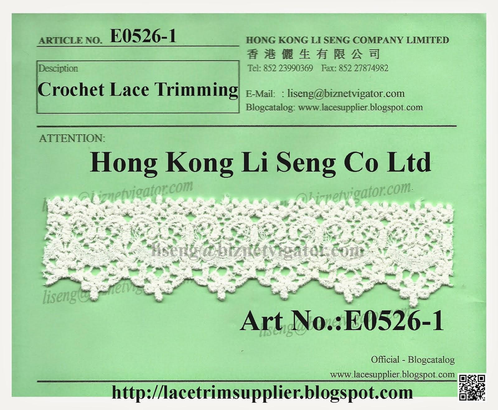 Crochet Lace Trimming Supplier - Hong Kong Li Seng Co Ltd