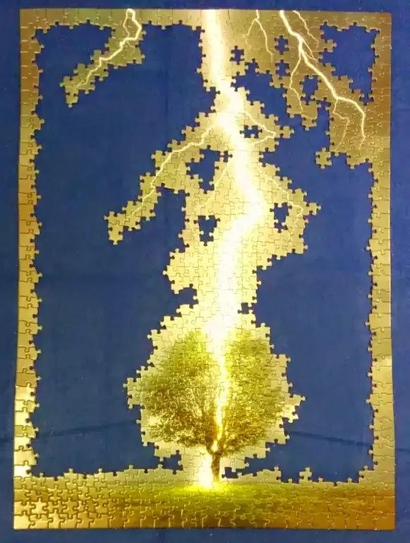 Eurographics Lightning Striking Tree 1000 piece jigsaw puzzle