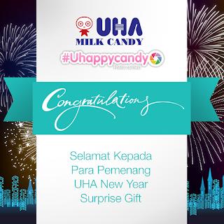 Info Pemenang - Daftar Pemenang UHA New Year Surprise Gift