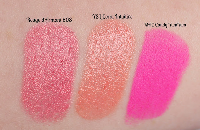 Luxury Lipstick Swatches YSL MAC Armani
