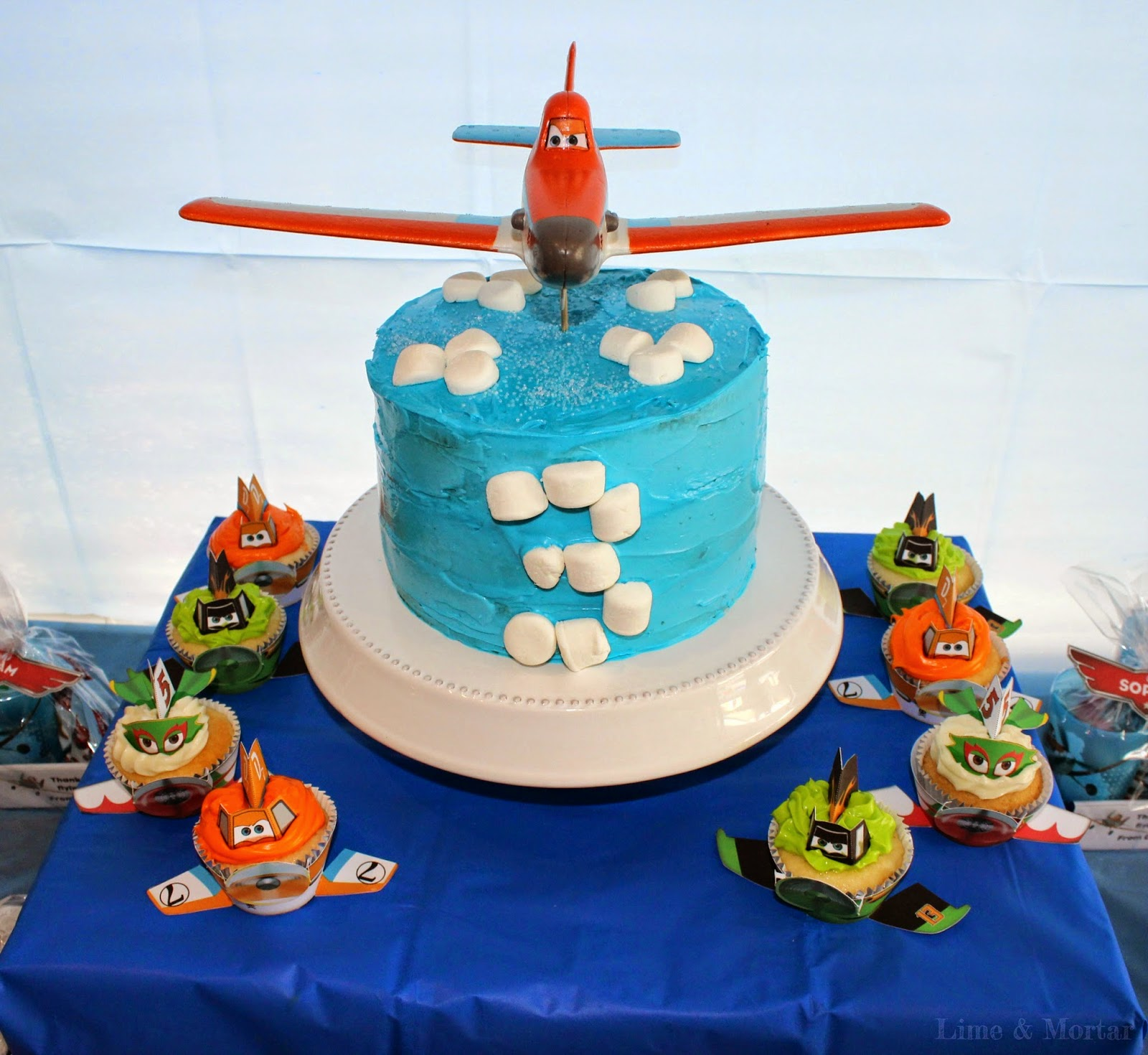 Lime mortar kids parties planes party for Airplane cake decoration