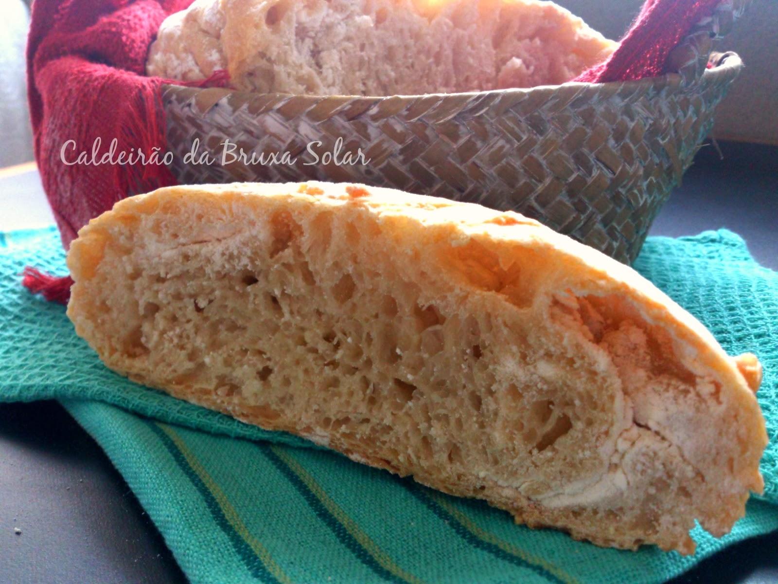 Pão rústico sem sova de panela