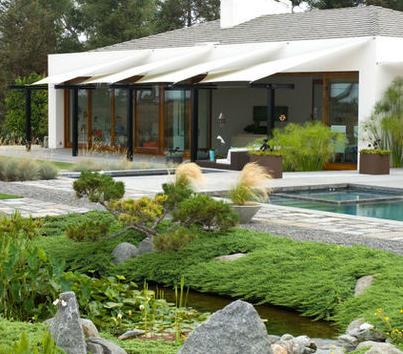 Fotos de jardin jardines de casas de dos plantas for Disenos de jardines para casas modernas