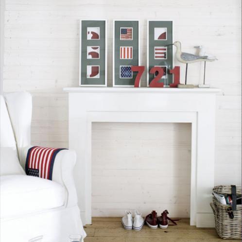 Casas vestidas de verano con maisons du monde hampton sc - Chimenea blanca decorativa ...