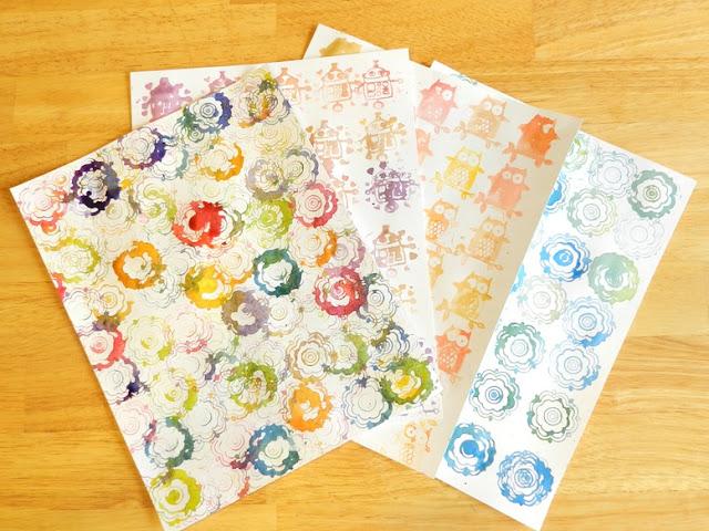 Watercolor Stamp Art