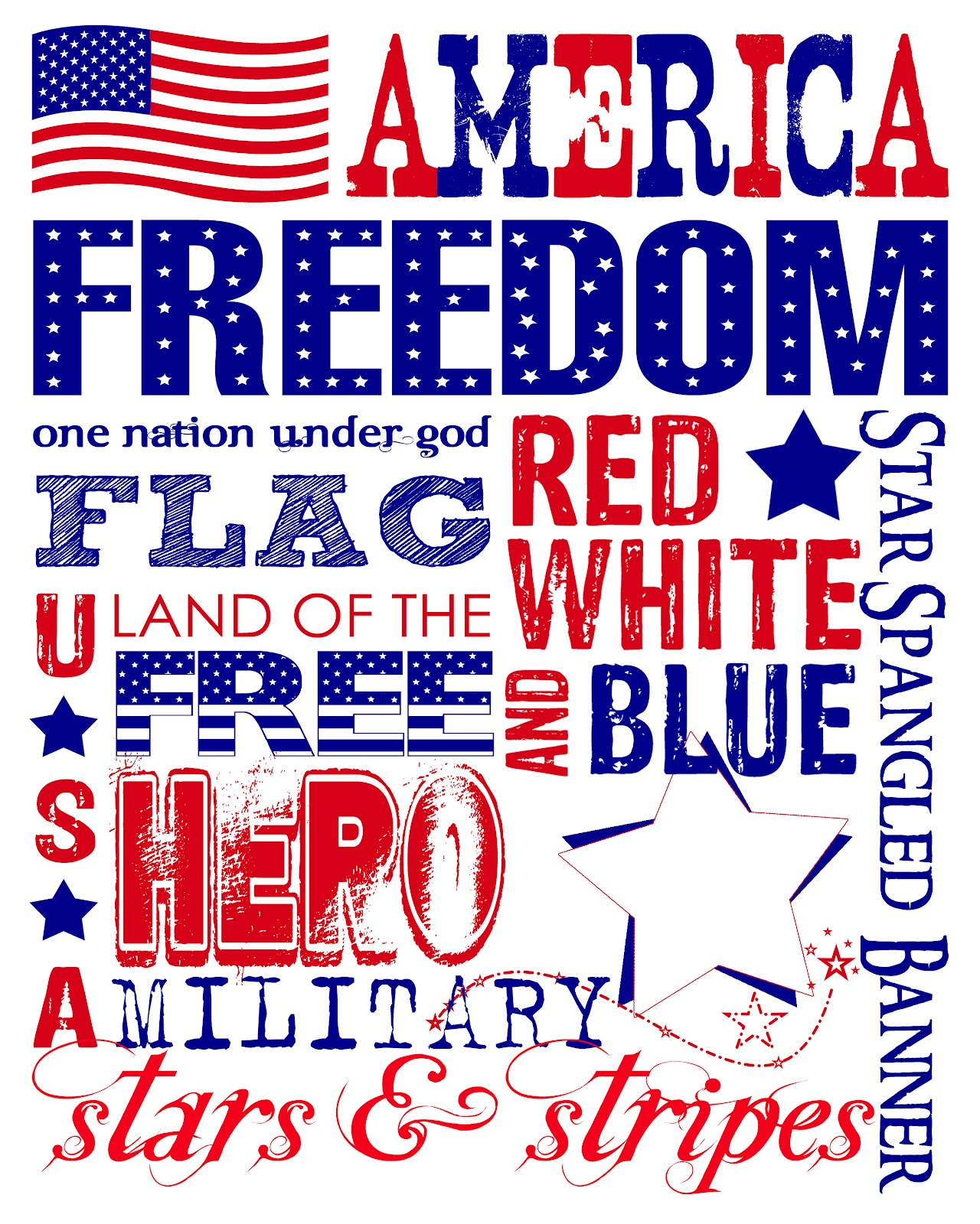 The perfect card free printable patriotic subway wall art you can choose to print it at the photo lab jpeg or yourself onto cardstock pdf have a great holiday enjoy solutioingenieria Image collections