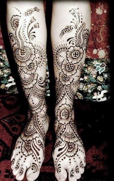 Henna or Mehendi Feet or or Foot Designs Collection 7 Mehndi on Feet