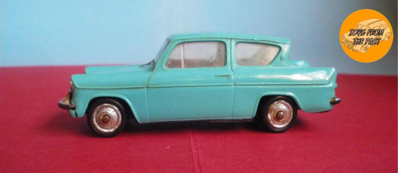 Plastic Ford Anglia Toy Car