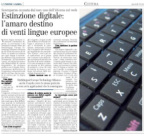 Estinzione digitale: lamaro destino di venti lingue europee