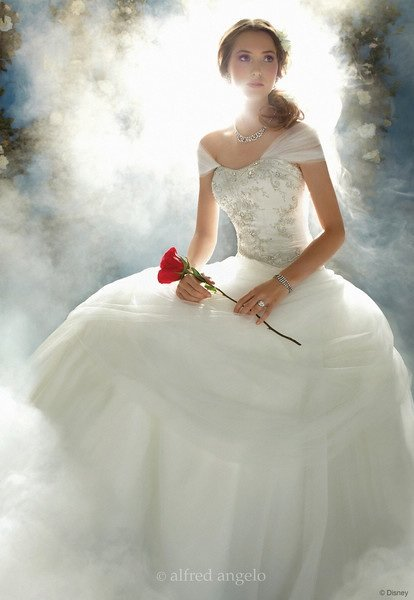 The disney den disney fairy tale wedding beauty and the for Fairytale inspired wedding dresses