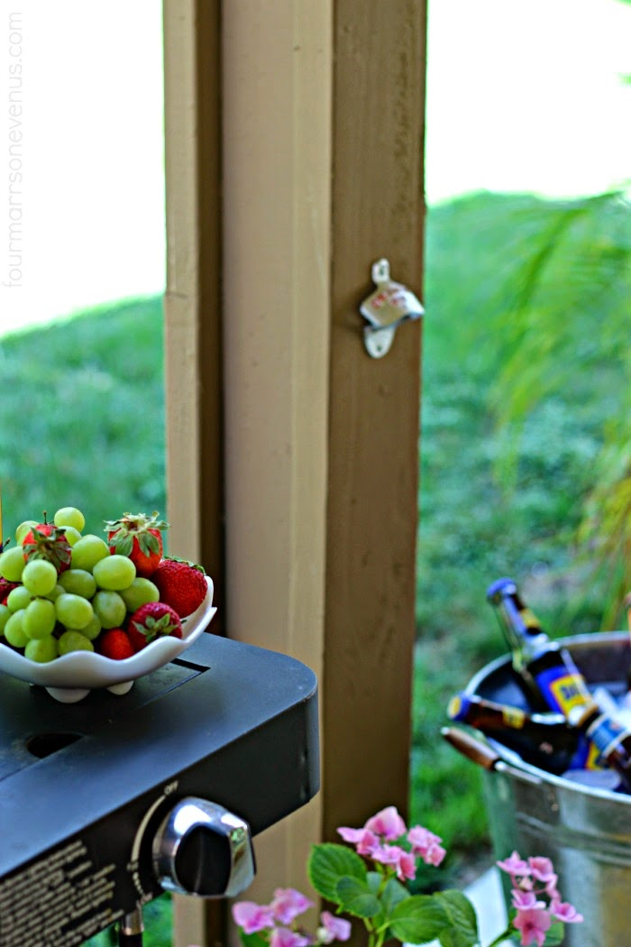 Fun Backyard Beverage Station