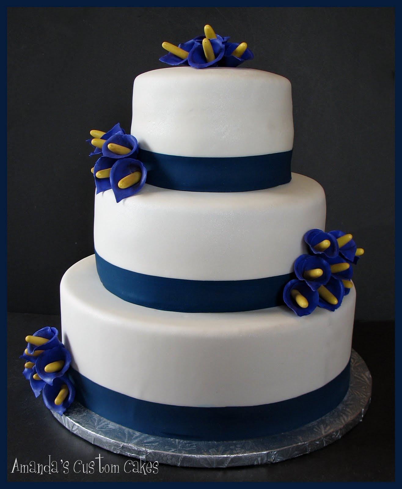 Amandas Custom Cakes Calla Lily Wedding Cake - Calla Lilly Wedding Cake