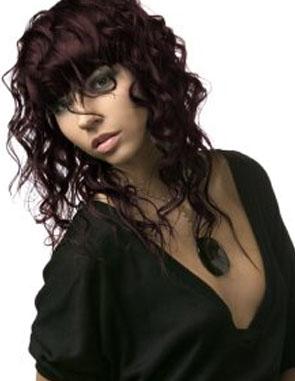 El Mundo Del Corte Y Del Peinado Pelo Rizado Con Flequillo - Peinados-rizados-con-flequillo