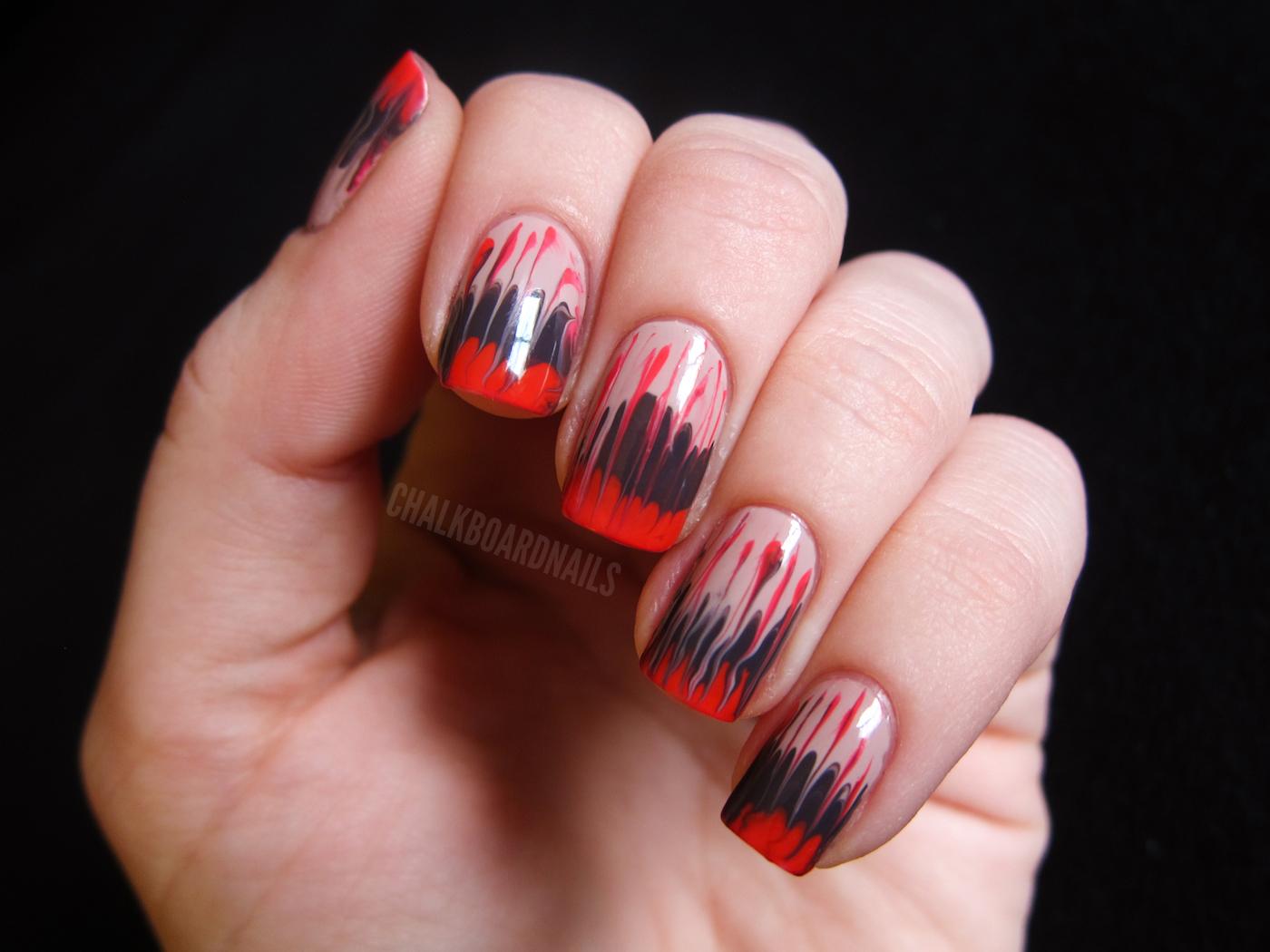 Как иголкой нарисовать на ногтях фото