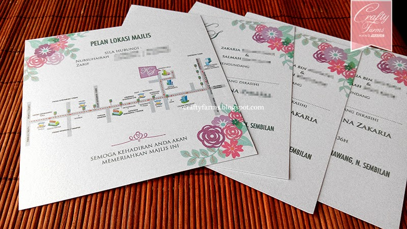 vintage, floral, purple, mint, turquoise, Wedding Flat Card Invitation, Malay Wedding Invitation, Wedding Modern Invitation, Kad Kahwin Walimatul Urus