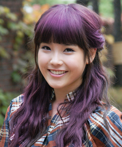 IU Purple Hair Change