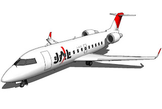Trimble 3D Warehouse - Japan Airlines Bombardier