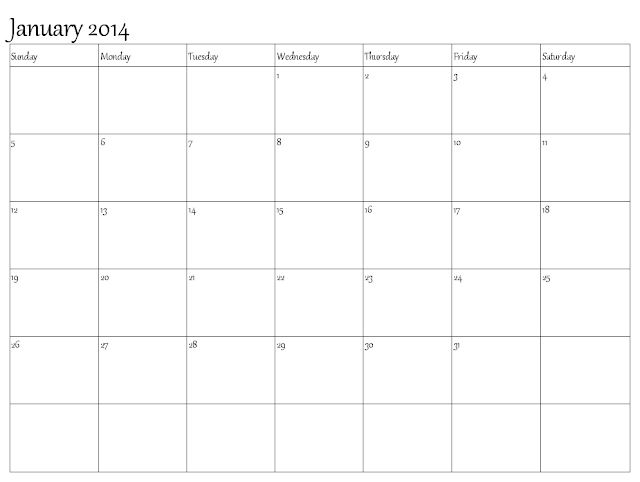 2014 January Calendar Excel Word Pdf And Jpg Printable Calendar