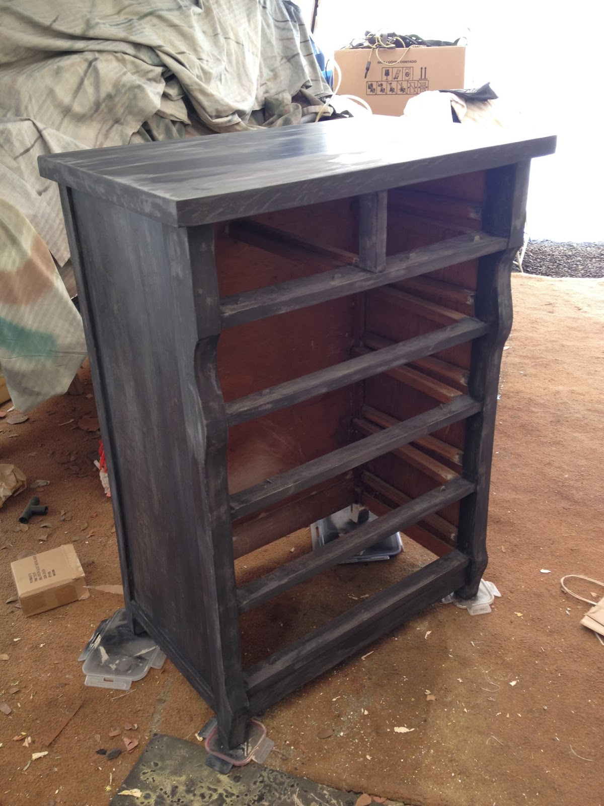 black antique dresser