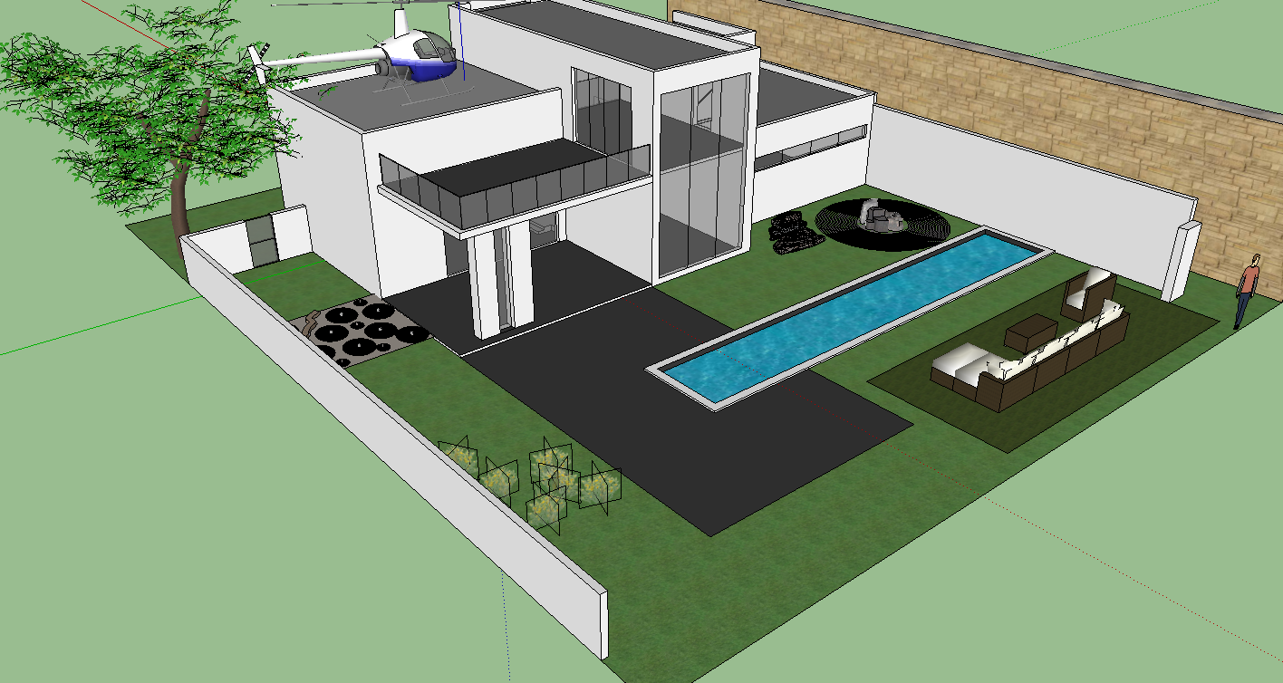 Google sketchup project 3 house it 200 steven yang for Modern house sketchup