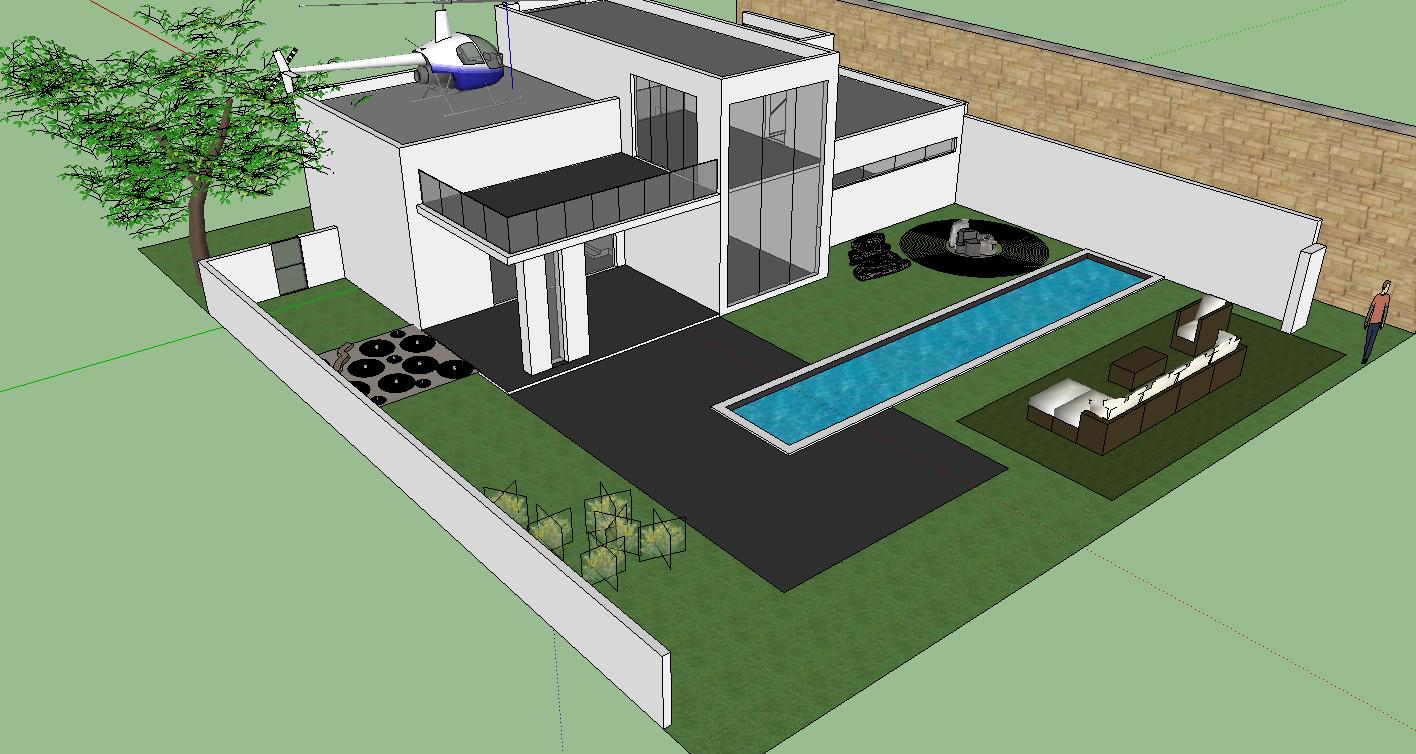 Google sketchup project 3 house it 200 steven yang for Modern house design sketchup