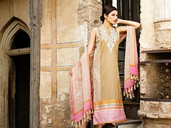 New Khaadi Spring Formal Wear Dresses 2015 9