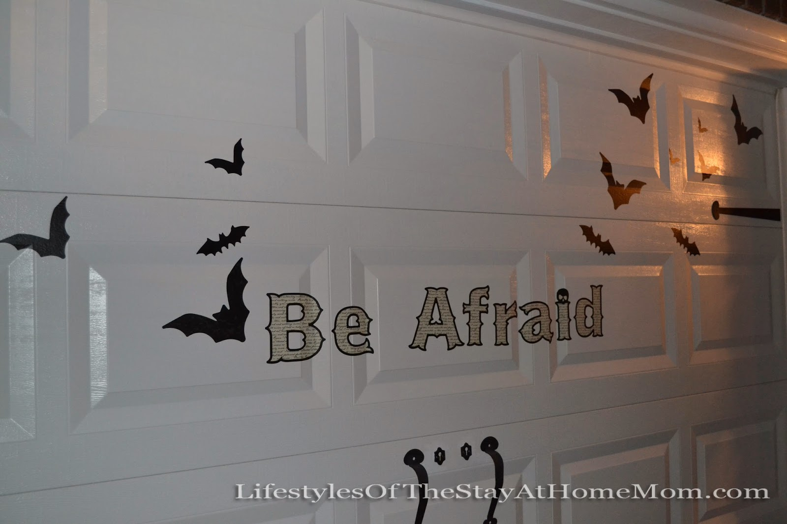 Halloween garage door decals - The Decals I Found At Lowes Of All Places They Are Part Of A Large Decal Set I Placed On Our Garage