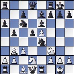 Posición partida de ajedrez Bolbochán-Albareda 1946, posición después de 11.Te1