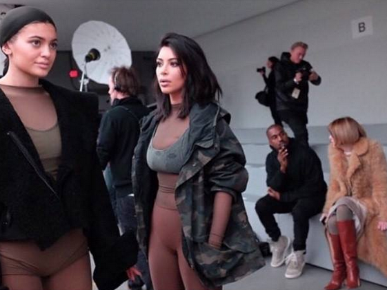 "Kanye West and Kim Kardashion ""Yeezy"" Adidas Fashion Photo Shoot"