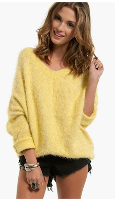 Plush Sweater (yellow)- Tobi- Wild Society