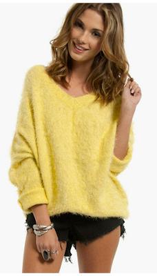 Plush Sweater (yellow)- Tobi- Wild Society