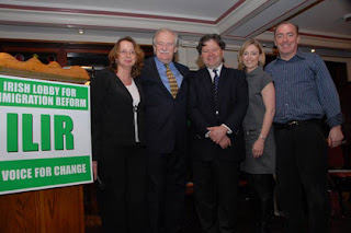 ILIR chairman Bart Murphy (center) with fellow ILIR advocates Kelly FIncham, Bruce Morrison, Celine Kennelly and Ciaran Staunton