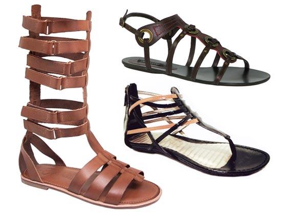 Modelos diferentes sandálias gladiadoras 2015