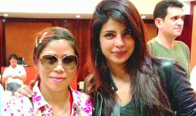 Mary Kom Real Image Photo with Priyanka Chopra
