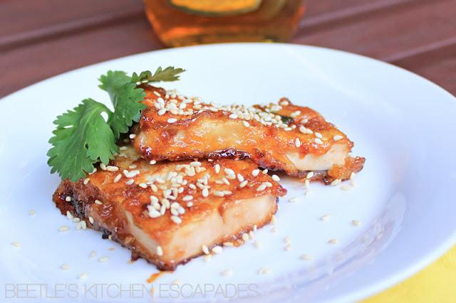 Beetle's Kitchen Escapades: Honey Sesame Tofu
