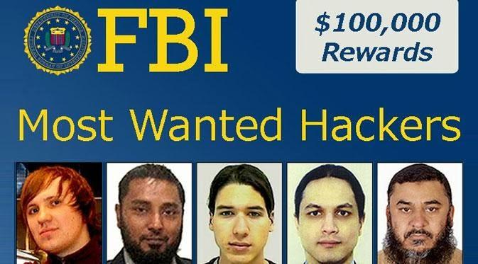 5 Hacker paling berbahaya di dunia sedang diburu FBI