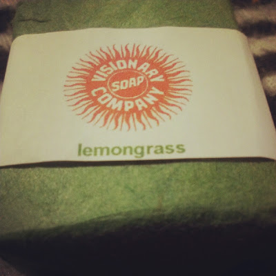 Lemongrass mini soap Visionary vegan KatSick