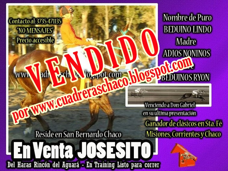 JOSESITO VENDIDO