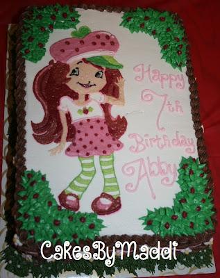 7th Birthday, girl cake