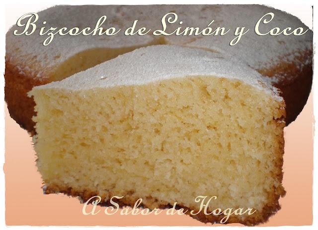 A sabor de hogar bizcocho de lim n y coco revista for Bizcocho limon esponjoso