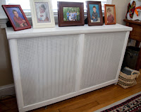 Built Radiator Cover With Scrap Wood