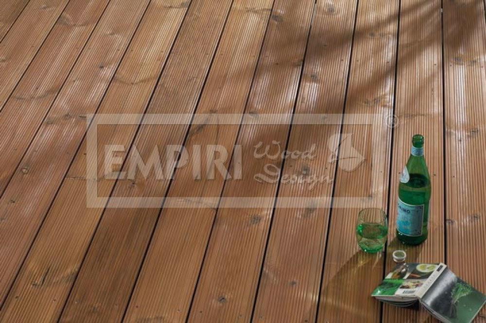 dřevěná terasová prkna thermo borovice