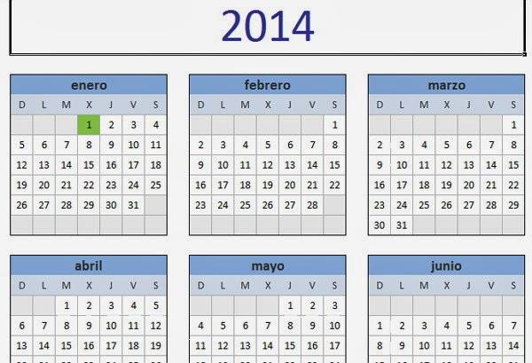 Descargar el Calendario 2014 gratis