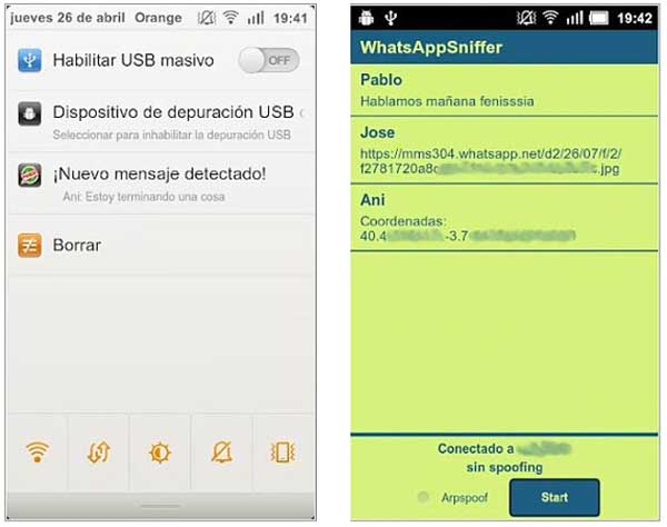 whatsapp sniffer for android